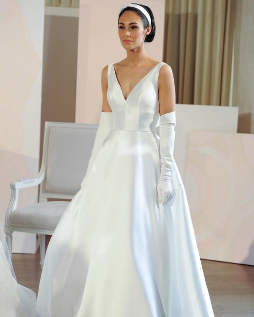 anne barge v-neck a-line wedding dress spring 2018