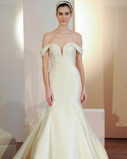 anne barge off the shoulder sweatheart wedding dress spring 2018
