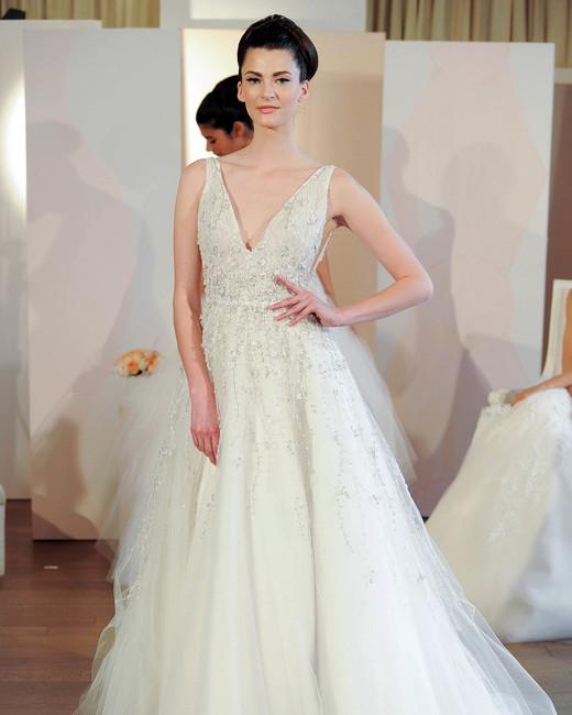 anne barge v-neck tulle wedding dress spring 2018