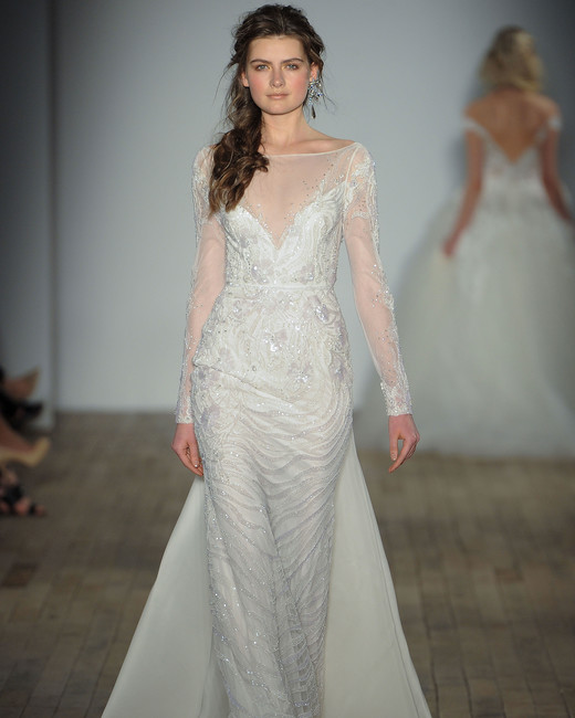 lazaro sheath wedding dress spring 2018