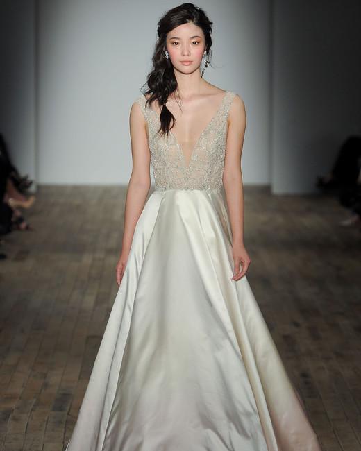 Lazaro spring 2018 wedding dress collection martha for Lazaro a line wedding dress
