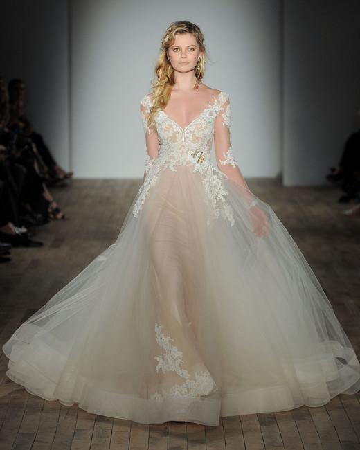 lazaro sheer wedding dress spring 2018