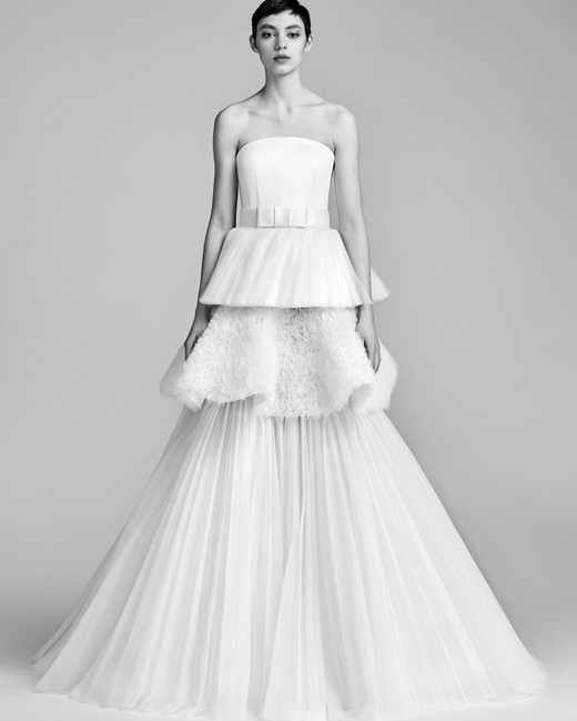 Viktor&Rolf Strapless Wedding Dress Spring 2018