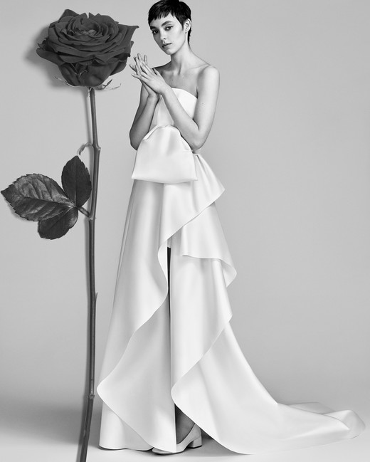 Strapless Viktor&Rolf Sheath Wedding Dress Spring 2018
