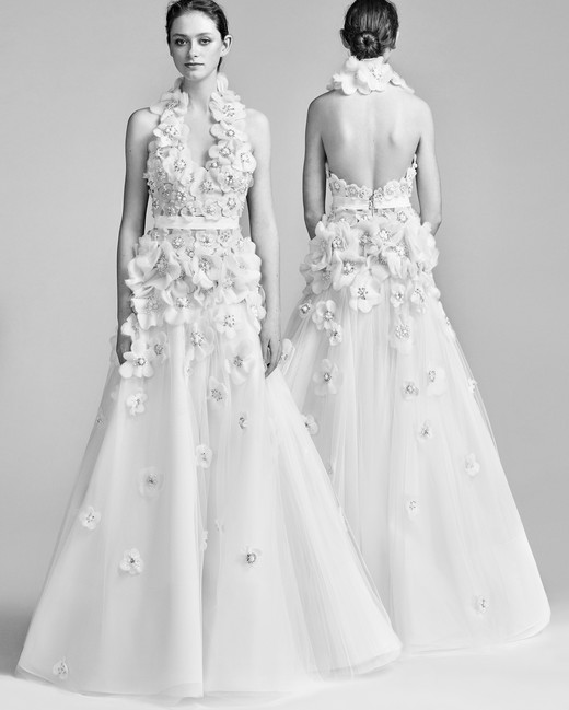 Viktor&Rolf Sparkly A-Line Wedding Dress Spring 2018