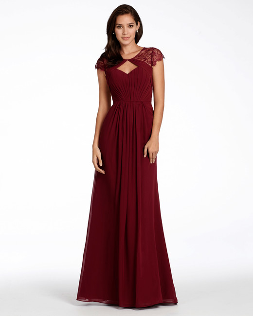 "burgundy bridesmaid dress – Hayley Paige Occasions ""Style 5709"""