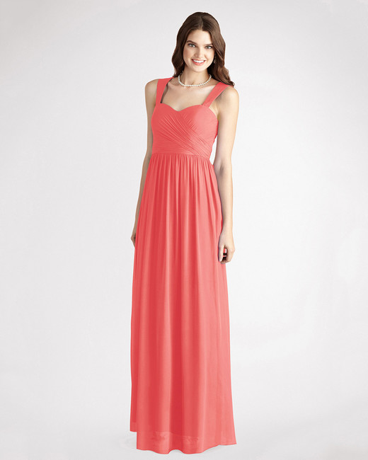 coral bridesmaid dress donna morgan bailey