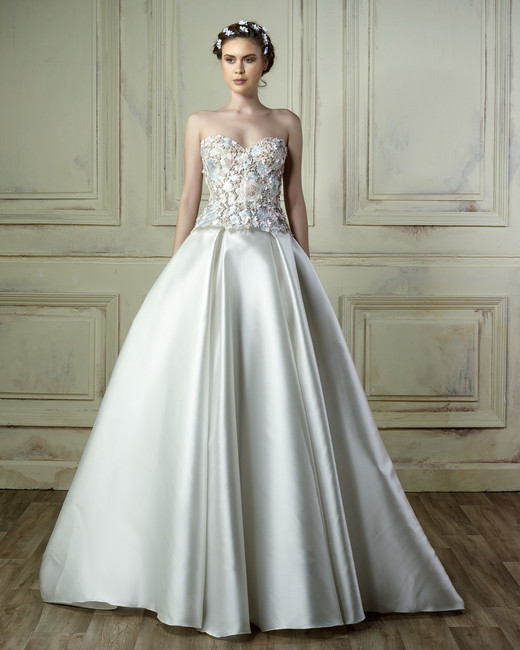 gemy maalouf a-line strapless wedding dress spring 2018