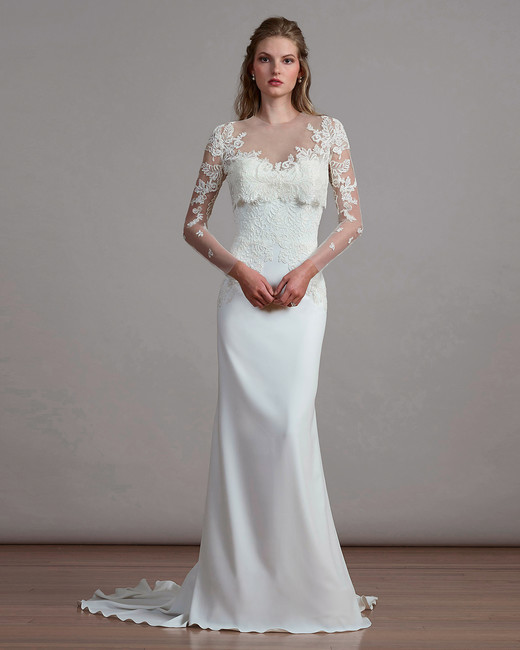 Liancarlo Spring 2018 Wedding Dress with Illusion Neckline
