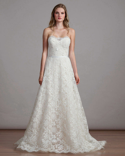 lace liancarlo strapless wedding dress spring 2018