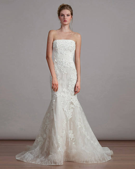 liancarlo strapless wedding dress