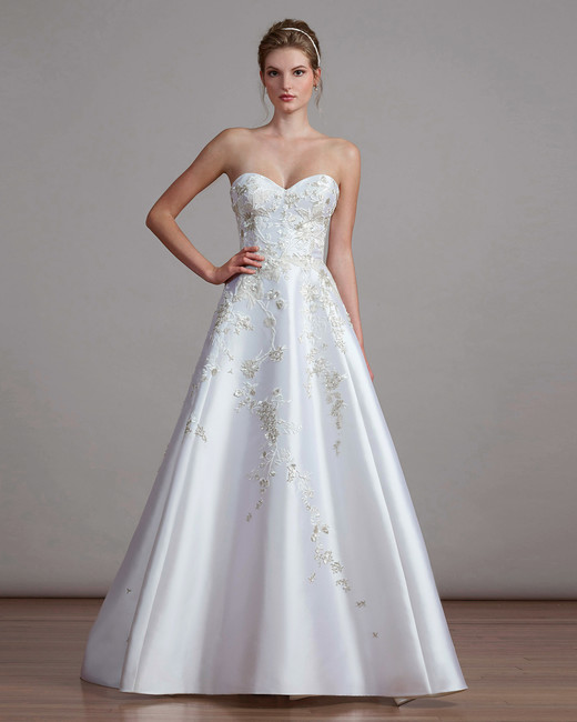 liancarlo spring 2018 a-line strapless wedding dress