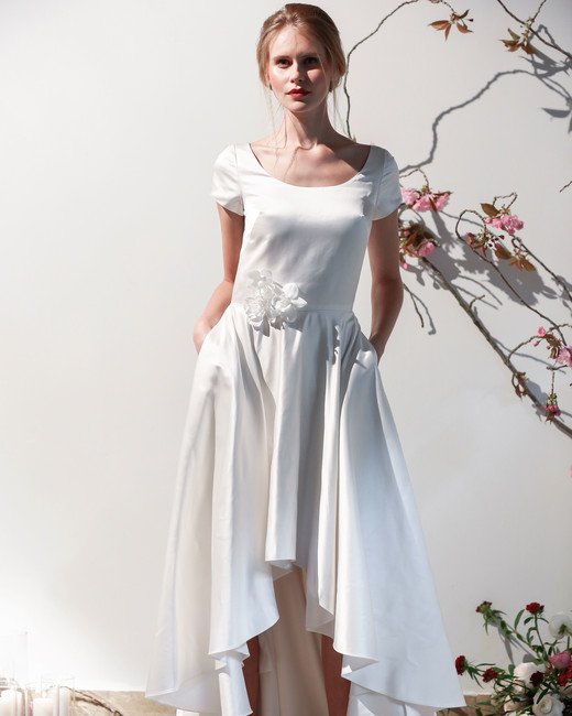 Mason Hosker cap sleeve wedding dress spring 2018