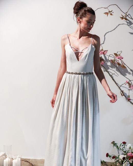 Mason Hosker spaghetti strap v-neck wedding dress spring 2018
