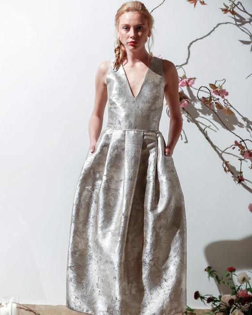Mason Hosker v-neck a-line wedding dress spring 2018