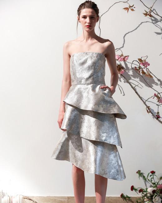Mason Hosker layered short wedding dress spring 2018