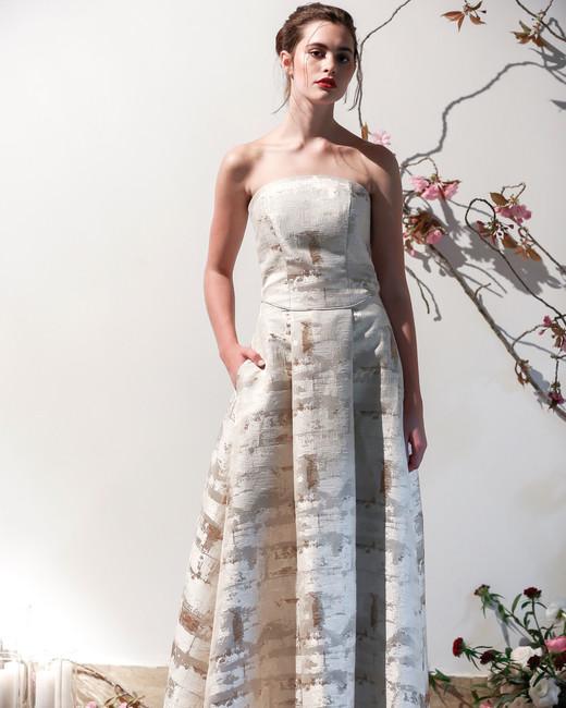 Mason Hosker strapless a-line wedding dress spring 2018