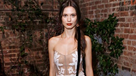 lace strapless sarah seven wedding dress spring 2018