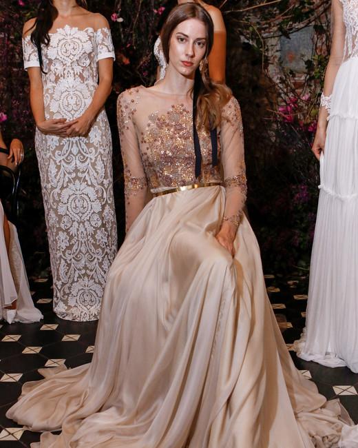 long sleeves a-line sarah seven wedding dress spring 2018