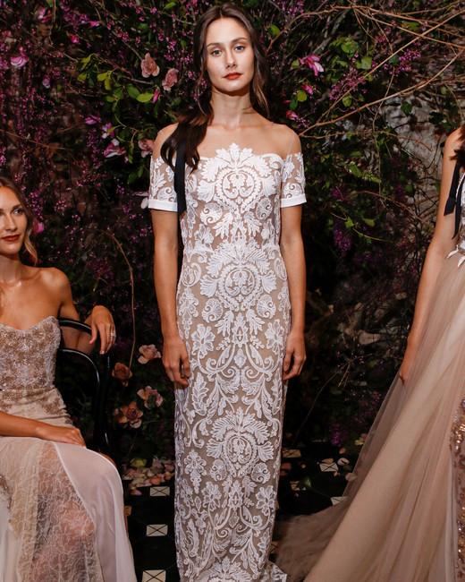 strapless sheath sarah seven wedding dress spring 2018