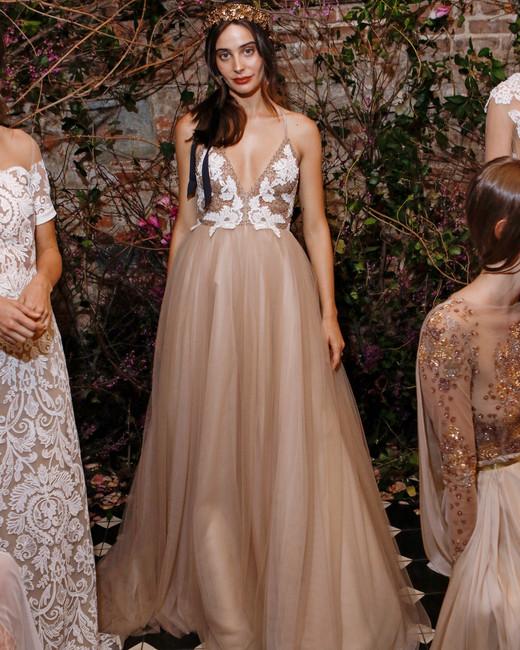v-neck ball gown sarah seven wedding dress spring 2018