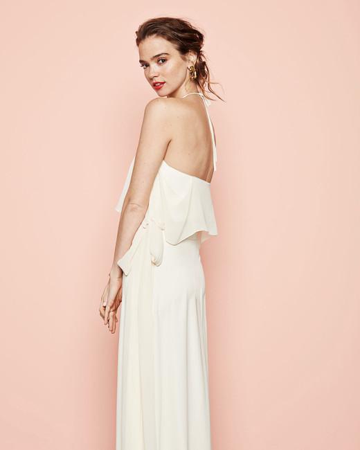 white chiffon wrap dress joanna august