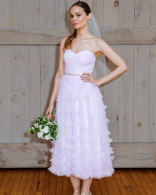 david's bridal pink sweetheart wedding dress spring 2018