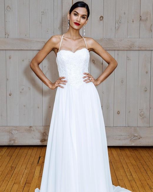 david's bridal spaghetti strap sweetheart wedding dress spring 2018