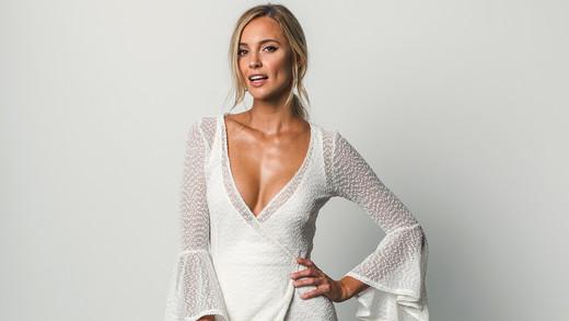 grace loves lace v-neck flutter sleeve spring 2018 wedding dress