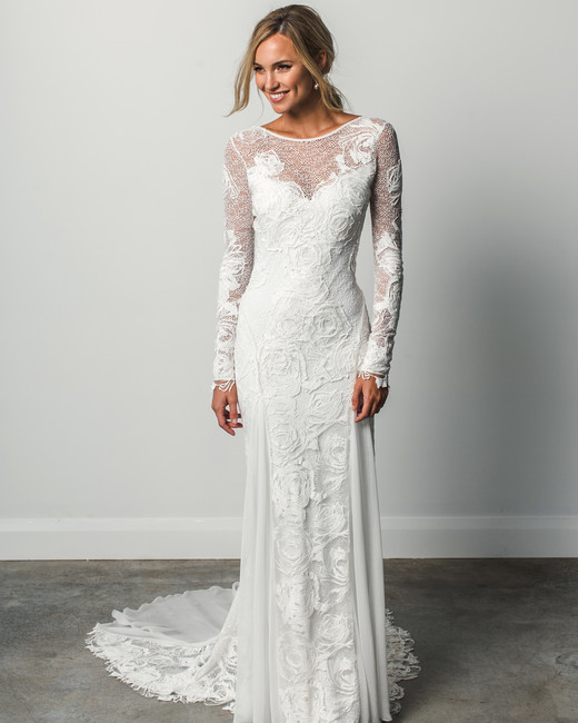 grace loves lace long sleeve spring 2018 wedding dress