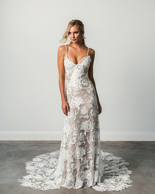 grace loves lace spaghetti strap spring 2018 wedding dress