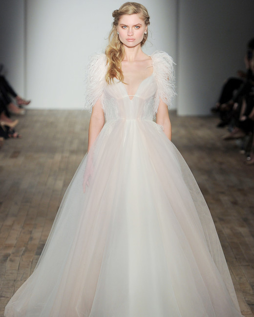 feather ball gown Hayley Paige Spring 2018 Wedding Dress Collection