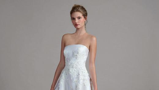 liancarlo a-line strapless wedding dress