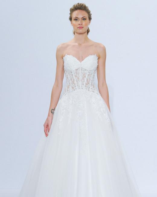 randy fenoli strapless lace wedding dress spring 2018