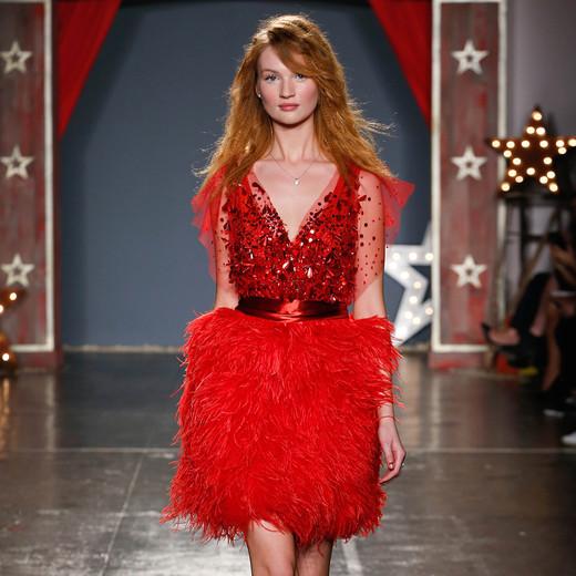 jenny packham wedding dress spring 2018 red short embellished
