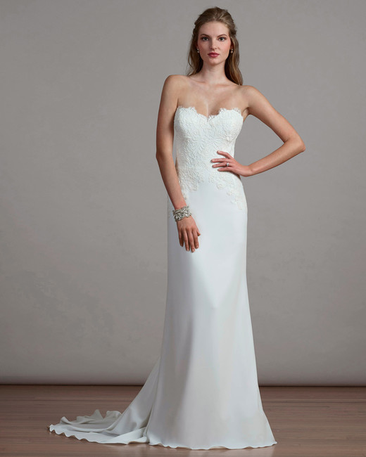liancarlo sweetheart strapless wedding dress spring 2018