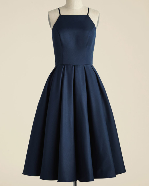 navy bridesmaid dress