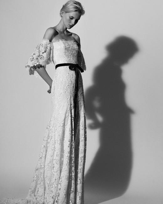 off the shoulder lace Carolina Herrera Wedding Dress Spring2018