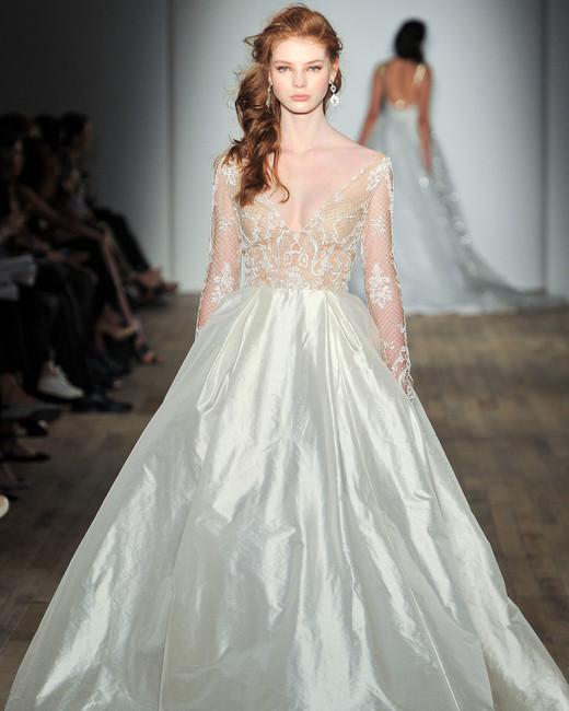 jlm tara keely long sleeves sheer ball gown wedding dress spring 2018
