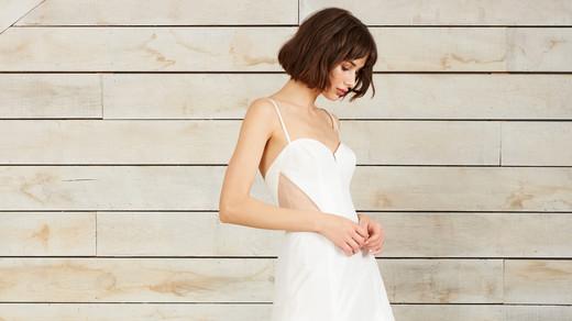 nouvelle amsale spaghetti strap a-line sweetheart wedding dress spring 2018