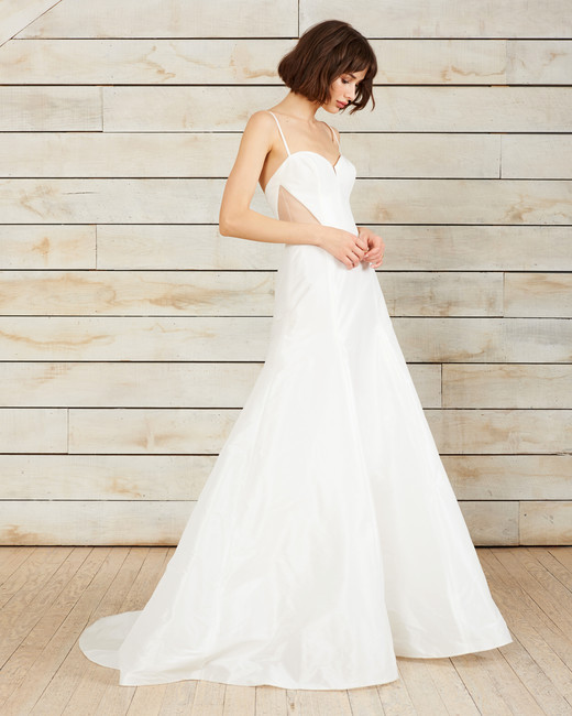nouvelle amsale spaghetti strap a-line sweetheart wedding dress spring 2018