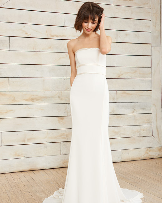nouvelle amsale strapless ribbon wedding dress spring 2018