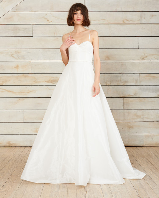 nouvelle amsale spaghetti strap sweatheart a-line wedding dress spring 2018