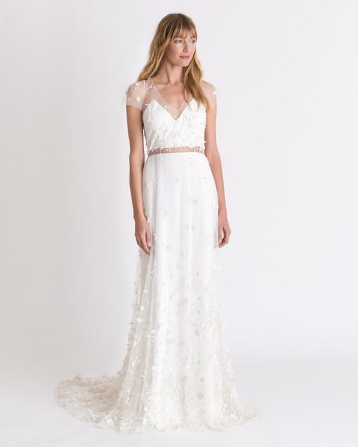 alexandra grecco v-neck wedding dress spring 2018