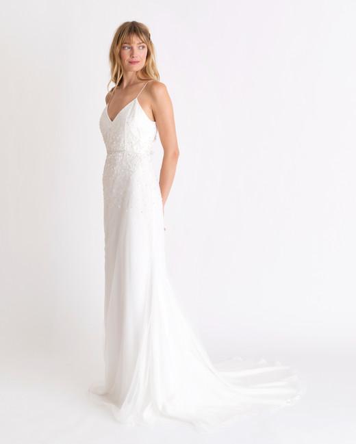alexandra grecco spaghetti strap wedding dress spring 2018