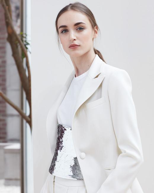 pant suit Oscar de la Renta Spring 2018 Wedding Dress Collection