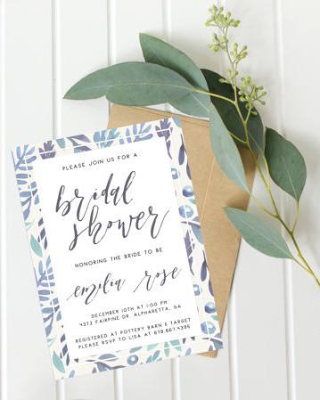 blue detail invitations