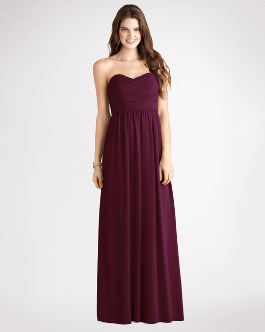 burgundy bridesmaid dress – Donna Morgan – Stephanie