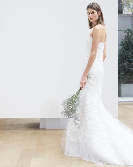strapless trumpet Oscar de la Renta Spring 2018 Wedding Dress Collection