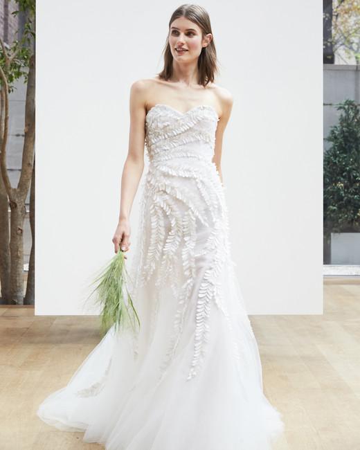 sweetheart trumpet Oscar de la Renta Spring 2018 Wedding Dress Collection